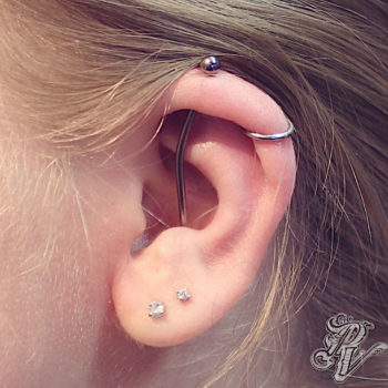 Conch to Helix Industrial, Helix, and Double Lobe.